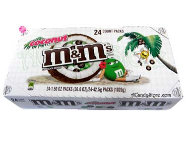M & M's Coconut Milk Chocolate Candies - 24 packs