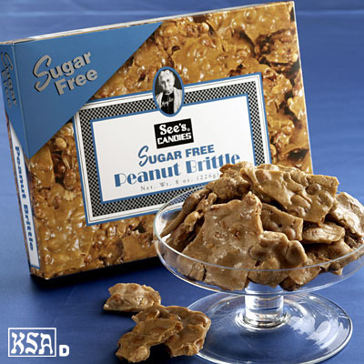 Sugar Free Peanut Brittle - 8oz. - Buy 2 or more and save!